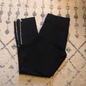 Gap ankle zip ponte pants medium